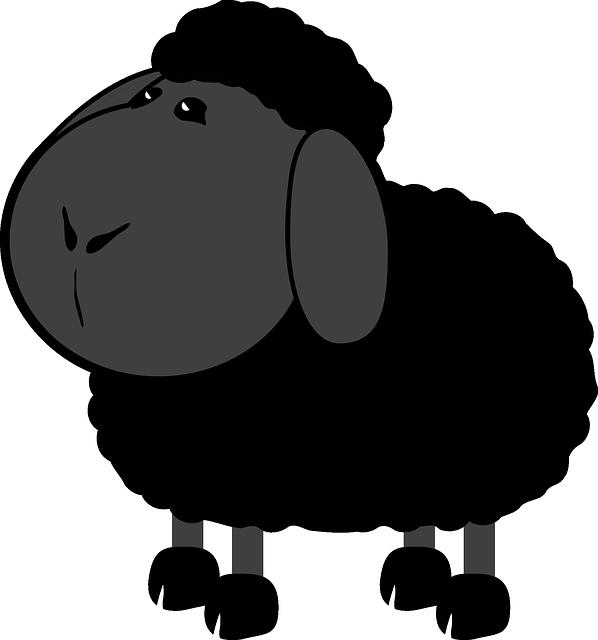 Tele2 zwart schaap