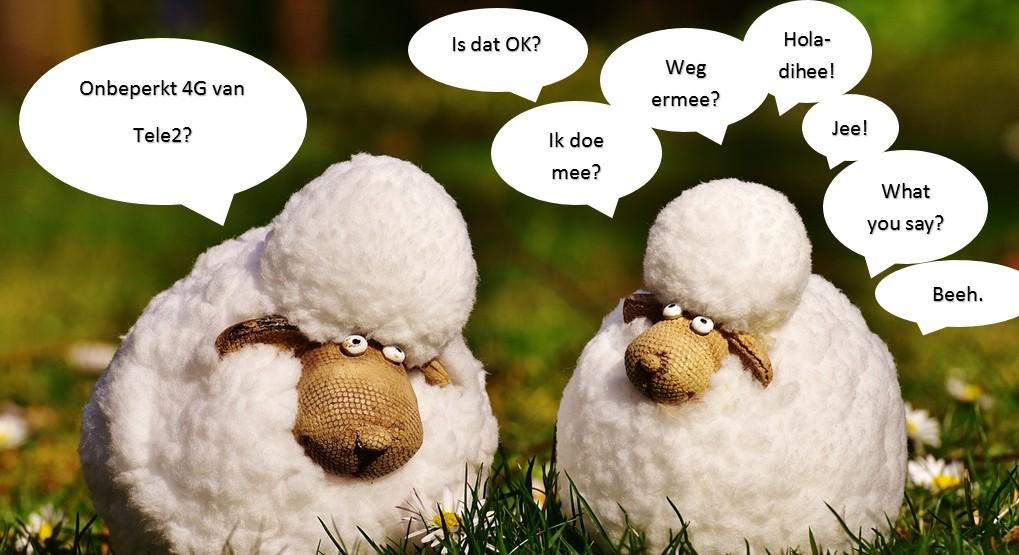 Onbeperkt 4G Tele 2 unlimited abonnement schapen
