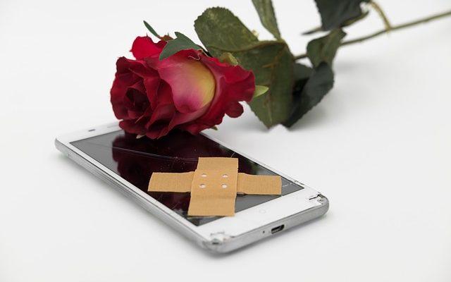 Mobiel pleister roos kapot repareren