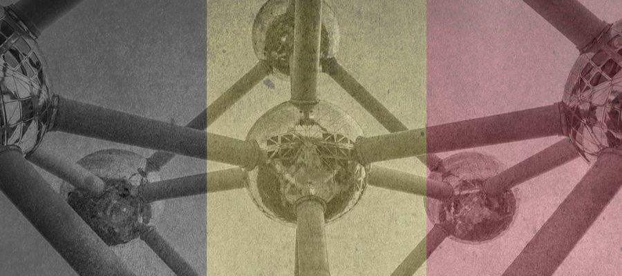 Belgische vlag en Atomium