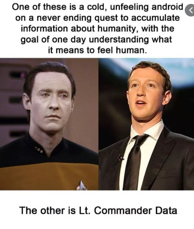 Mark Zuckerberg and lt Commander Data
