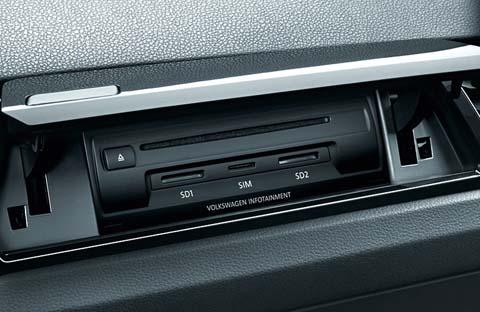simkaart sleuf in auto